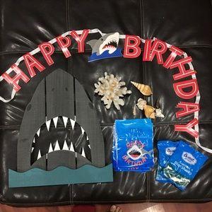 Shark theme birthday party decor